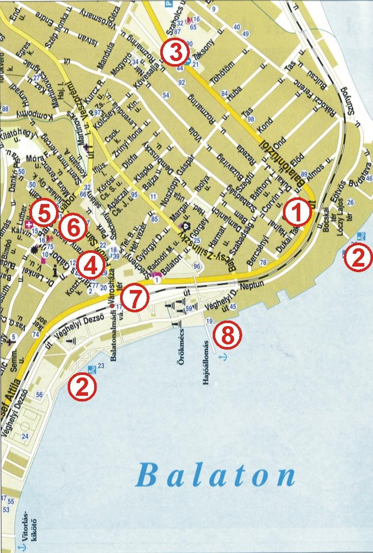 balatonalmádi térkép Frey Tours Balatonalmádi Térkép balatonalmádi térkép